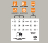 BT25 - 3-Way Audio Video Input Control - Instruction Diagram