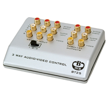 BT25 - 3-Way Audio Video Input Control - with Parallel Outputs