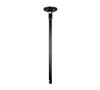 BT5835-075 - 35mm Diameter Pole - 0.75m length - Black