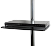 BT7173 - Medium Glass Shelf - Black with Blu-Ray Player