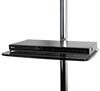 BT7173 - Medium Glass Shelf - Black with Blu-Ray Player