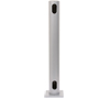 BT7305 Flat Screen Desk Mount Pole with Swivel - Gloss Silver