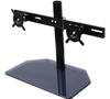 BT7332 - AViBALL® Flat Screen Desk Mount with Glass Base for Two Screens - Side View