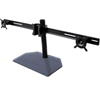 BT7333 - AViBALL® Flat Screen Desk Mount with Glass Base for Three Screens - Side View