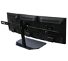 BT7333 - AViBALL® Flat Screen Desk Mount with Glass Base for Three Screens - Rear View