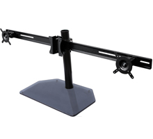 BT7333 - AViBALL® Flat Screen Desk Mount with Glass Base for Three Screens