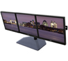 BT7333 - AViBALL® Flat Screen Desk Mount with Glass Base for Three Screens - with Screens