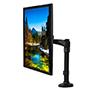 BT7372 - Single Arm Flat Screen Desk Mount - with Screen in Portrait Orientation