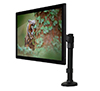 BT7372 - Single Arm Flat Screen Desk Mount - with Screen in Landscape Orientation