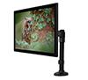 BT7372 - Single Arm Flat Screen Desk Mount - with Screen in Landscape Orientation