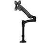 BT7383 Full Motion Double Arm Flat Screen Desk Mount - Side View