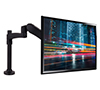 BT7383 Full Motion Double Arm Flat Screen Desk Mount - Back View