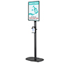 BT7401-01 - Flat Screen Stand with Bottled Sanitiser Cradle (Small Base)