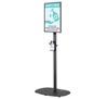 BT7401-02 - Flat Screen Stand with Bottled Sanitiser Cradle (Large Base)