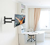 BT7513 - Double Arm with Tilt and Swivel Flat Screen Wall Mount - Lifestyle Image