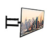 BT7515 Double Arm with Tilt and Swivel Flat Screen Wall Mount - Side View