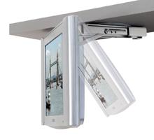 Bt7525 Lcd Tv Under Cabinet Flip Down Bracket In White Finish