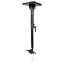 BT7582 - Adjustable Drop Flat Screen Ceiling Mount - Black