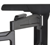 BT8221 - Ultra-Slim Double Arm Flat Screen Wall Mount - Integrated cable management - Black
