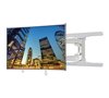 BT8221 - Ultra-Slim Double Arm Flat Screen Wall Mount - With Screen - White