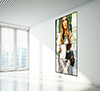 Suitable for landscape or portrait mounting, screens can also be recess mounted