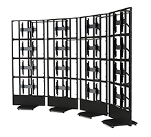 BT8352 Professional Free Standing Curved Video Wall Mount with Multiple Configurations