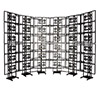 BT8352 - Freestanding Curved Video Wall Mount - 6x6 Curved Installation