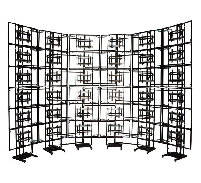 Modular Free Standing Curved Video Wall Mount Products B Tech