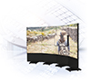 Pop-out, Modular Freestanding Curved Videowall Mount