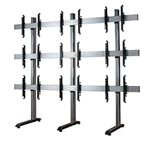 BT8370-3x3-60 - System X Universal Video Wall Stand for 3x3 Video Walls