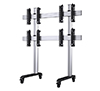 BT8371-2x2 - System X Universal Mobile Videowall Stand for 2x2 Video Walls