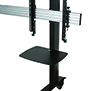 BT8371-2X2 - Black Verticals with Accessory Shelf