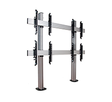 BT8372-2x2 - System X Universal Bolt Down Video Wall Stand for 2x2 Video Walls