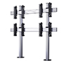 BT8372-2x2 - System X Universal Bolt Down Videowall Stand for 2x2 Videowalls