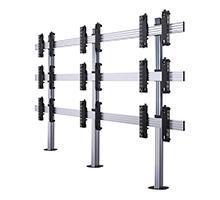 BT8372-3x3 - System X Universal Bolt Down Videowall Stand for 2x2 Videowalls