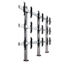 BT8372-3x3 - System X Universal Bolt Down Video Wall Stand for 3x3 Video Walls