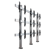 BT8372-3x3 - System X Universal Bolt Down Video Wall Stand for 2x2 Video Walls