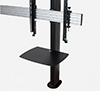 BT8372-2X2 - Black Verticals with Accessory Shelf