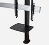 BT8372-2X2 - Black Verticals with Accessory Shelf