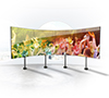 BT8375 - Bolt Down Curved Videowall Stand