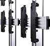 8 point tool-less micro-adjustment for seamless screen alignment