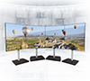 BT8376 - Curved Videowall Stand