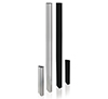 Columns are available in various heights, with a choice of black or silver finish