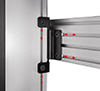 Included sliding nuts allow rails and columns to be positioned as required