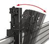 Tilt adjustment of up +20° for enhanced overhead visibility