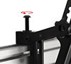 Arms feature levelling screws to adjust the screen height