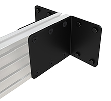 Wall-To-Wall Rail Mounting Brackets