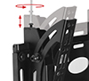 BT8430 - Arms feature levelling screws to adjust the screen height once mounted