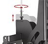 BT8431 - Arms feature levelling screws to adjust the screen height once mounted