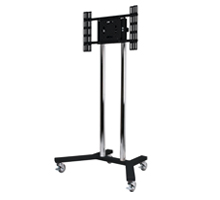 BT8504 Large Flat Screen Display Trolley - Black